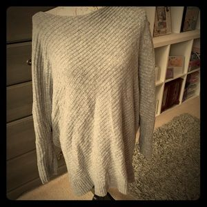 Gently used grey off shoulder sweater